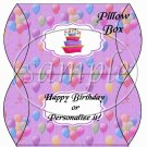 Party Balloons Purple  ~ Pillow Box