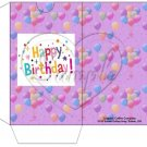 Party Balloons Purple  ~  Gift Card Sleeve