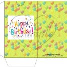 Party Balloons Lime   ~  Gift Card Sleeve