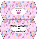 Party Balloons Pink  ~ Pillow Box
