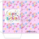 Party Balloons Pink ~  Gift Card Sleeve