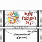 Dad You Rock! Red ~ Father's Day ~ Standard 1.55 oz Candy Bar Wrapper  SOE
