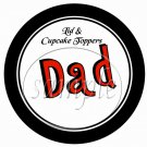 Dad You Rock! Red  ~ Father's Day ~  Cupcake Pick & Toppers ~ Set of 1 Dozen