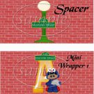 Monster Street ~ Sesame Street Inspired ~  Alphabet MINI Candy Bar Wrapper