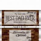 Best Dad Ever ~ Bricks ~ Father's Day ~ Standard 1.55 oz Candy Bar Wrapper  SOE