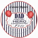 Dad Boys Hero Girls First Love ~ Father's Day ~  Cupcake Pick & Toppers ~ Set of 1 Dozen