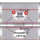 Dad Boys Hero Girls First Love ~ Father's Day ~ Standard 1.55 oz Candy Bar Wrapper  SOE