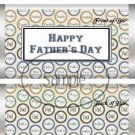 Happy Father's Day Circle Collage ~ Father's Day ~ Standard 1.55 oz Candy Bar Wrapper  SOE