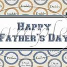 Happy Father's Day Circle Collage ~ Father's Day ~  Quart Glass Jar