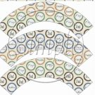 Happy Father's Day Circle Collage ~ Father's Day ~  Cupcake Wrappers ~ Set of 1 Dozen