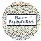 Happy Father's Day Circle Collage ~ Father's Day ~  Cupcake Pick & Toppers ~ Set of 1 Dozen