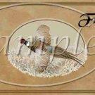 Pheasant in Flight ~  Pint Glass Jar