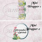 Summer Wild Flowers  ~ MINI Candy Bar Wrappers