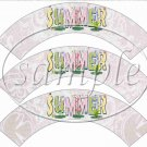 Summer Wild Flowers  ~ Cupcake Wrappers ~ Set of 1 Dozen