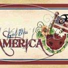 God Bless America  ~  Quart Glass Jar