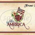God Bless America  ~ Gallon Can Set