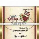 God Bless America  ~ Standard 1.55 oz Candy Bar Wrapper  SOE