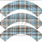 Blue & Brown Plaid ~ Father's Day ~ Cupcake Wrappers ~ Set of 1 Dozen
