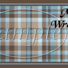 Blue & Brown Plaid ~ Father's Day  ~ MINI Candy Bar Wrappers