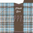 Blue & Brown Plaid ~ Father's Day  ~ Pinch Box