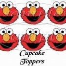 Elmo ~  Cupcake Pick & Toppers ~ Set of 1 Dozen