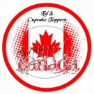 God Bless Canada #2 ~  Cupcake Pick & Toppers ~ Set of 1 Dozen