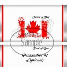 God Bless Canada #1  ~ Standard 1.55 oz Candy Bar Wrapper  SOE