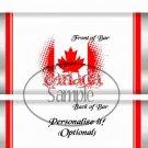 God Bless Canada #2  ~ Standard 1.55 oz Candy Bar Wrapper  SOE