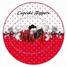 Ladybug White on Red Polka Dot Floral  ~  Cupcake Pick & Toppers ~ Set of 1 Dozen