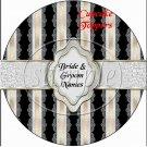 Black & Silver  ~  Cupcake Pick & Toppers ~ Set of 1 Dozen