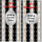 Black & Silver ~ MINI Candy Bar Wrappers