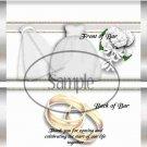 Bridal Gown  ~ Standard 1.55 oz Candy Bar Wrapper  SOE