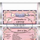 Bride To Be  ~ Standard 1.55 oz Candy Bar Wrapper  SOE