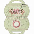Pink Roses Green Background Floral ~ Pillow Purse