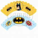 Batman ~ Faux or Inspired By Super Heroes ~ Cupcake Wrappers ~ Set of 1 Dozen