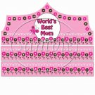 World's Best Mom Pink Crown ~ Mother's Day ~  Paper Crown