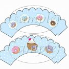 Coffee & Donuts ~ Cupcake Wrappers ~ Set of 1 Dozen