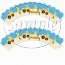 Construction Tractors Heavy Machinery ~ Cupcake Wrappers ~ Set of 1 Dozen