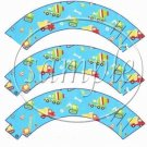 Construction Trucks Heavy Machinery ~ Cupcake Wrappers ~ Set of 1 Dozen