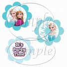 Frozen Flower Shaped ~ Faux or Inspired By ~  Cupcake Pick & Toppers ~ Set of 1 Dozen