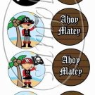 Pirate Ahoy Matey  ~ Cupcake Picks & Toppers