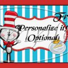 Dr. Seuss Cat in the Hat ~ Faux or Inspired By ~  Pint Glass Jar