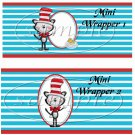 Dr. Seuss Cat in the Hat ~ Faux or Inspired By ~ MINI Candy Bar Wrappers