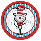 Dr. Seuss Cat in the Hat ~ Faux or Inspired By  ~ Cupcake Picks & Toppers