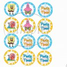 Spongebob Square Pants #1 ~ Faux or Inspired By ~  Cupcake Toppers ~ Set of 1 Dozen