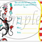 Dr. Seuss Cat in the Hat 1st Birthday ~ Faux or Inspired By  ~ Party Invitation