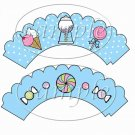 Sweet Candy ~ Cupcake Wrappers ~ Set of 1 Dozen