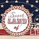 Sweet Land of Liberty ~ Pint Glass Jar