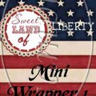 Sweet Land of Liberty ~ MINI Candy Bar Wrappers