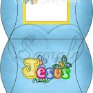 Jesus is Love  Blue ~ Personalizable  Pillow Treat Gift Box